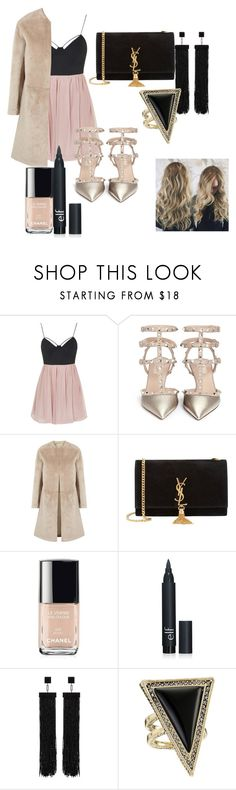 """""""Untitled #13"""" by xlvlgx ❤ liked on Polyvore featuring Topshop, Valentino, Helmut Lang, Yves Saint Laurent, Chanel, Tom Ford, House of Harlow 1960, women's clothing, women and female"""