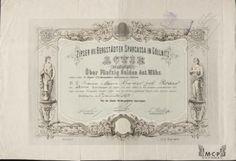 Muzeum cennych papiru Zipser VII Bergstädter Sparkassa in Gölnitz 1872