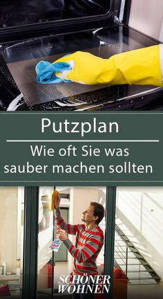 Diy Household Tips 751608625300115071 - Cleaning plan: how often you should clean what- Putzplan: Wie oft Sie was sauber machen sollten We love plans and you?