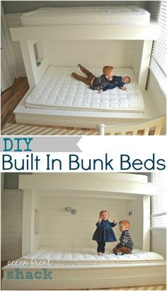 Diy Wall To Wall Built In Bunk Beds And A Full Room