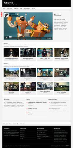 Azione WordPress Theme Review - Obox Design