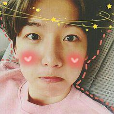 Baekhyun, Exo, Edit Icon, Blush, Icons, Kawaii, Cute, Pink, Rose