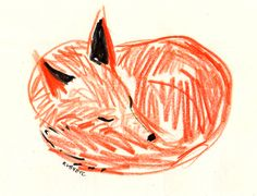 fox Art Print by rubyetc Gravure Illustration, Pattern Illustration, Graphic Illustration, Canson, Fox Art, Polychromos, Prismacolor, Painting & Drawing, Illustrations Posters