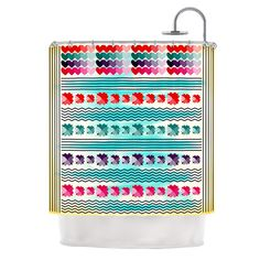 Love Pattern by Famenxt Shower Curtain