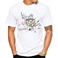 Work Design Men T-shirt Short Sleeve Hipster Tops Rubik cube Printed