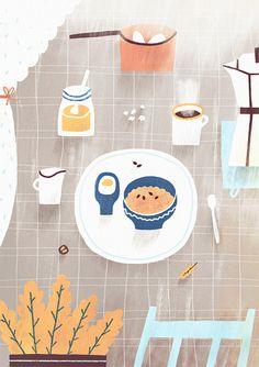 'Daily menu' project for Egreš Magazín (Bratislava \ Slovakia) www. Illustrations And Posters, Children's Book Illustration, Character Illustration, Graphic Design Illustration, Digital Illustration, Gouache, Food Art, Art Drawings, Art Paintings