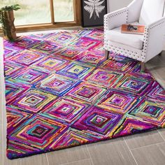 Safavieh Nantucket Collection Handmade Abstract Geometric Diamond Multicolored Cotton Area Rug x Nantucket, Br House, Handmade Home Decor, My New Room, Online Home Decor Stores, Bohemian Decor, Colorful Rugs, Rug Runner, Carpet Runner