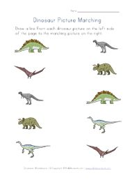 Dinosaur worksheets for several different skills!