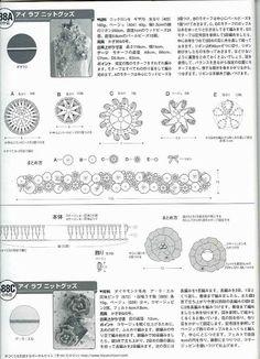 from Keito dama 2007 133 Floral Jacket, Crochet Shawl, Needlework, Vintage World Maps, Diagram, Bullet Journal, Diy Crafts, Sewing, Knitting