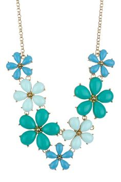 Olivia Welles Flower V-Neck Bib Necklace