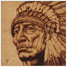 American Native - Pirograbado by felixdasilva.deviantart.com on @DeviantArt