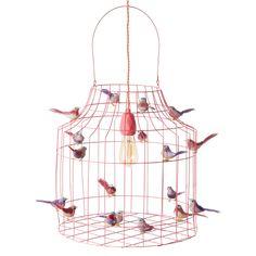 Hanglamp met vogeltjes zalmroze - Hanglampen - Loods 5 Kidsroom, Led Lamp, Scandinavian, Interior Design, Modern, Diy, Vintage, Bedroom Kids, Nest Design