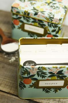 Floral Tin Recipe Box – Freckled Hen Farmhouse