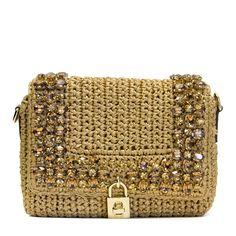 Dolce e Gabbana Jewel raffia crochet shoulder bag | RAILSO.COM