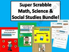 Super Scrabble Math, Science, & Social Studies Bundle!