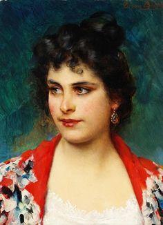 The Girl From Chioggia - Eugene de Blaas