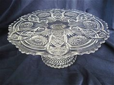 Vintage Glass Cake Stand by DelicateCreations on Etsy