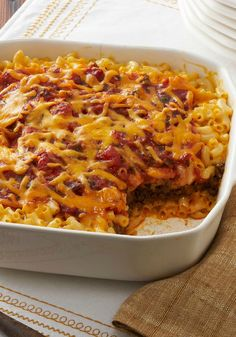 Taco Bake – We had a hunch about these two. And sure enough, fireworks. Ooey-gooey mac and cheese pairs up with the Tex-Mex flavors of tacos for a match made in dinnertime heaven.