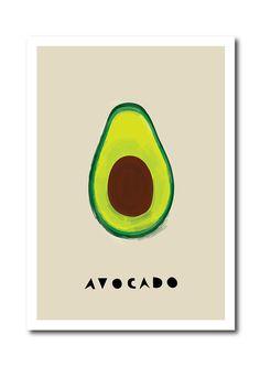 Avocado Art print Geometry Vegetable Fruit Drawings by dekanimal