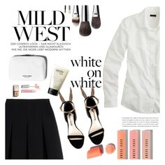 """""""B&W"""" by manuelabll ❤ liked on Polyvore featuring Alexander Wang, J.Crew, Chanel, Kerr®, philosophy, Sophia Webster and Bobbi Brown Cosmetics"""