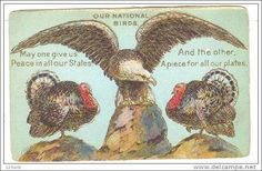 Thanksgiving - Our National Birds Eagle & Turkey - Peace & Piece for our…