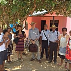 Witnessing in San Onofre, Colombia. Loving the hats!