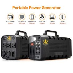 Kyng Power Portable Power Station for sale online Portable Power Generator, Solar Generator, Inverter Generator, Solar Power Inverter, Solar Power System, Solar Energy Panels, Best Solar Panels, 96 Hours, Solar Projects