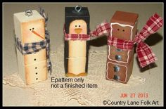 The Decorative Painting Store: We Three Blockheads Ornament Pattern, Newly Added Painting Patterns / e-Patterns Christmas Wood Crafts, Snowman Crafts, Christmas Projects, Holiday Crafts, Christmas Holidays, Christmas Decorations, Christmas Ornaments, Christmas Porch, German Christmas