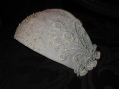 Vintage White Lace Juliet Cap Bridal Headpiece by yesteryearglam, $44.00