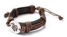 Leather Bracelet - Hummingbird by Corey Bulpitt