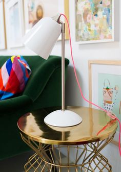 REFRESH   add a fun lamp to the corner of your living room for extra interest (and extra light!)   Photo by Oh Joy