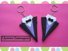 LLAVERO ESMOQUIN ( REGALO PARA PAPÁ) - YouTube Felt Keychain, Keychains, Craft Business, Crochet Videos, Pasta Flexible, Fathers Day, Biscuits, How To Make Crafts, Party Giveaways