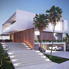 Do you want to build your own dream modern house? These beautiful modern house plans may inspire you! Modern Architecture House, Residential Architecture, Amazing Architecture, Modern House Design, Architecture Design, Creative Architecture, Minimalist Architecture, Modern Buildings, Landscape Architecture
