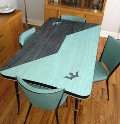 1960's turquoise  dinette set