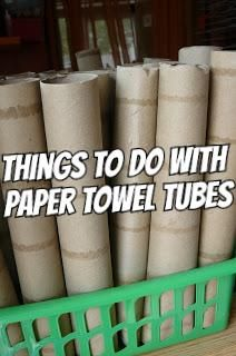 Wednesday Cardboard Tubes (Toilet Paper, Paper Towel, etc) Cardboard Tube Crafts, Paper Towel Roll Crafts, Toilet Paper Roll Art, Paper Towel Tubes, Rolled Paper Art, Paper Towel Rolls, Toilet Paper Roll Crafts, Toilet Paper Tubes, Cardboard Box Storage