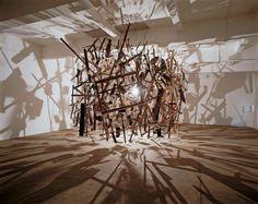 Cold Dark Matter: An Exploded View, © Cornelia Parker, Frith Street Gallery, London Deconstructed Art, Cornelia Parker, Exploded View, Art Fund, Artistic Installation, Damien Hirst, Royal Academy Of Arts, Dark Matter, Light In The Dark