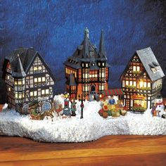 Lichthauser Weihnachtsdeko Set Altstadt Weihnachten Pinterest
