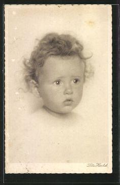Künstler-AK Lotte Herrlich: Baby Portrait 0