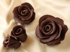 How to Make Chocolate Roses Photo Tutorial