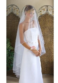 wedding dresses..minus the over the face veil..add straps to dress