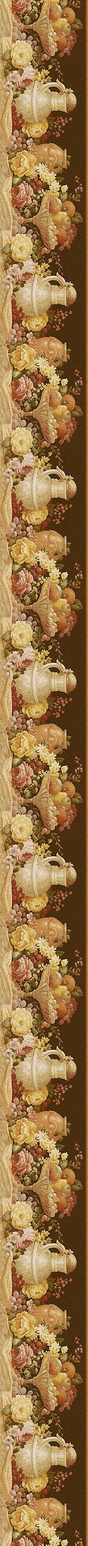 Still life border for dollhouse kitchen - Print this page to come out to Art Vintage, Vintage Cards, Vintage Paper, Vintage Prints, Printable Border, Decoupage Printables, Decopage, Borders And Frames, Decoupage Paper