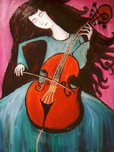 """Violonchelista"" Marina Ribas - couldn't NOT repin this."