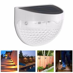 2016 New Design Solar Power LED Wall Light Outdoor Waterproof 6 LED Solar Panel Fence Lamp For Garden Landscape Lawn Lighting(China (Mainland))