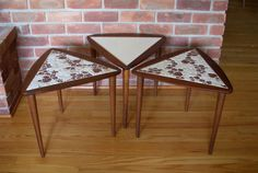 Mid Century  Trio Stackable Side Tables by Modernismus on Etsy, $175.00