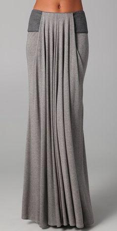 Fall maxi in grey.  So comfy