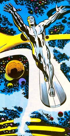 The Silver Surfer by Jack Kirby A character far more interesting than Superman. The Silver Surfer by Jack Kirby A character far more interesting than Superman. Marvel Comics Art, Marvel Comic Books, Comic Book Heroes, Marvel Heroes, Comic Books Art, Captain Marvel, Comic Book Artists, Comic Book Characters, Marvel Characters