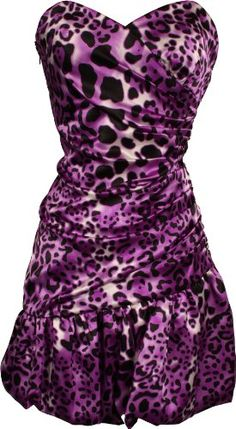 $44.99 Leopard Print Satin Bubble Mini Dress Prom Formal Junior Plus Size  From PacificPlex   Get it here: http://astore.amazon.com/ffiilliipp-20/detail/B0050ZS4XK/190-6639940-6882557