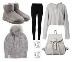 """casual gray"" by alexfred ❤ liked on Polyvore featuring UGG Australia, Faith Connexion and Max Studio"