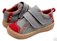 Livie & Luca's Bernal Grey/Red Barefoot Shoe