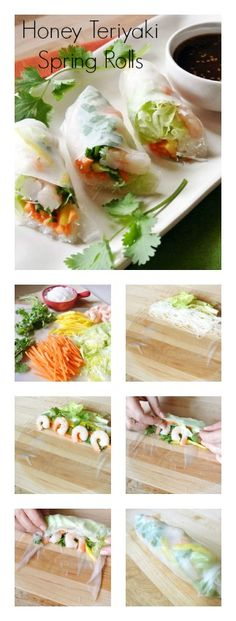 Honey Teriyaki Spring Rolls │Easy spring roll recipe. Includes a recipe and how-to.